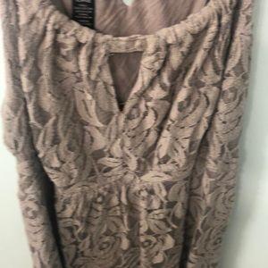 Dresses - Tan lacy sundress sz xl